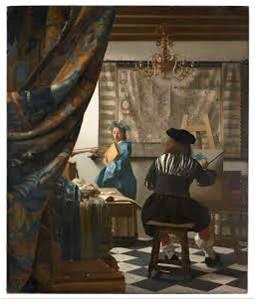 Vermeer van Delft, der Maler im Atelier 1656