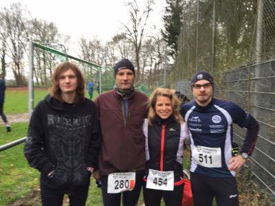 Arwed Meinert, Detlef Meinert, Anja Plasger und Jens Müller in Fahrenhorst.