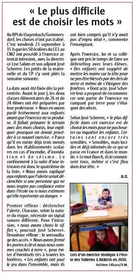 L'Alsace du 14/10/2016