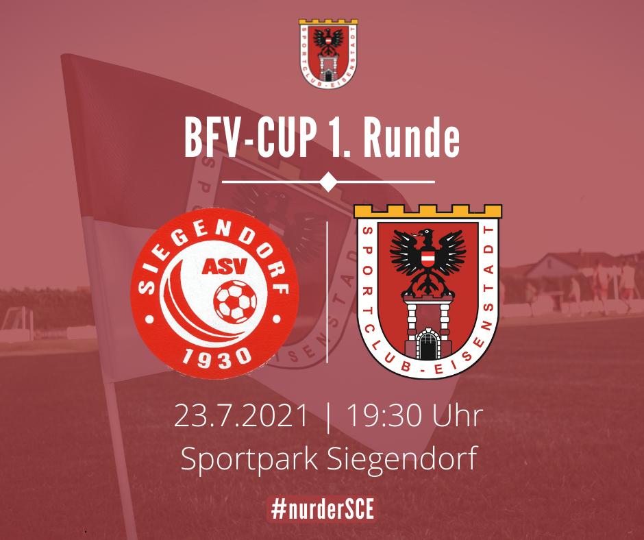 BFV-Cup: Reizvolles Duell mit Siegendorf