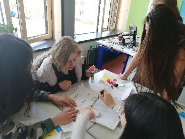 Gestaltung eines Badezimmers durch Schülerinnen