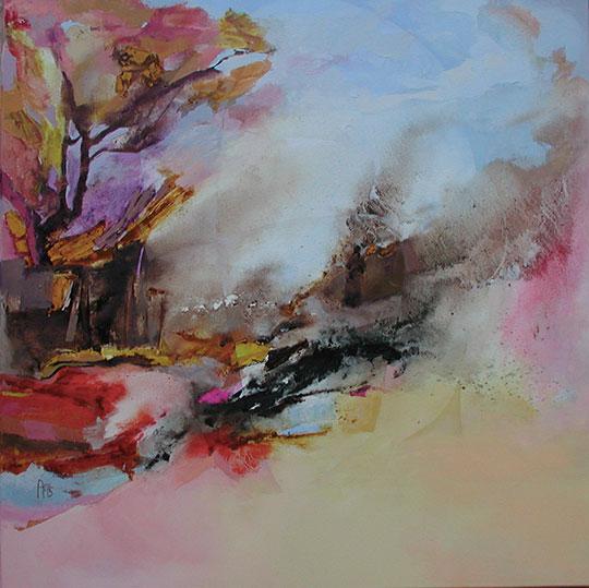Sozú,  toile de 80x80cm, huile, 2012
