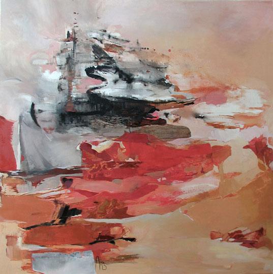 Ascension,  toile de 100x100cm, huile, 2008
