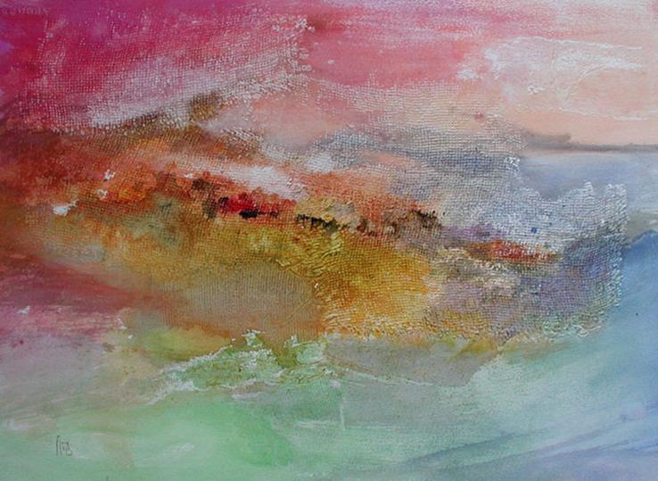 Trame n°2, 60x80cm, gesso et aquarelle, 2013