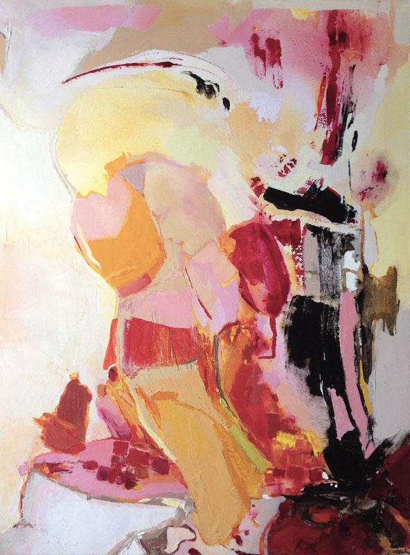 La fuite,  toile de 60x80cm, huile, 2010