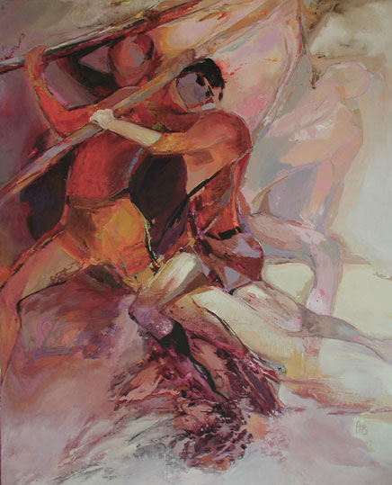 Force,  toile de 120x140cm, huile, 2012