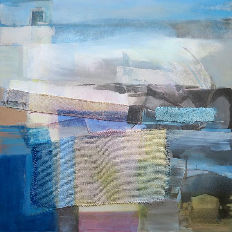 Trame d'hivers,  80x80cm, acrylique, 2014