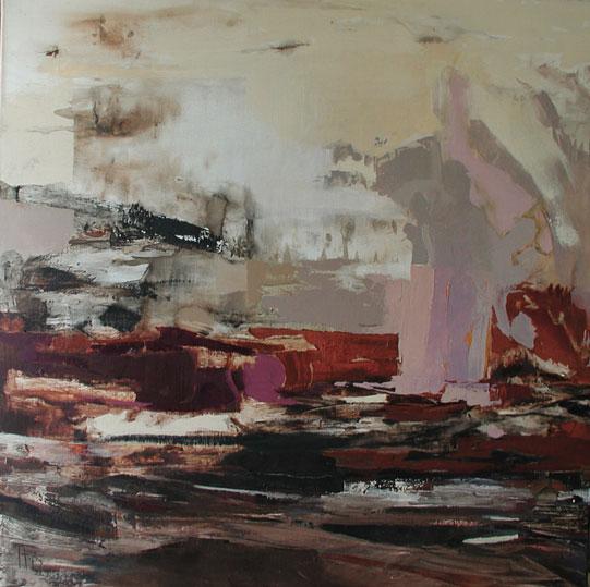 Offrande,  toile de 100x100cm, huile, 2008