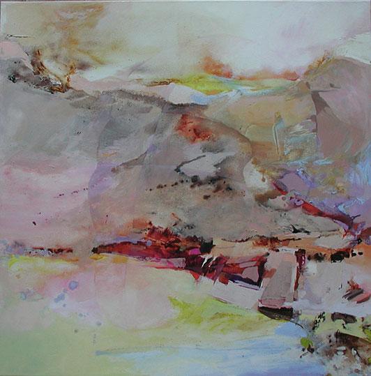 La dame du lac,  toile de 80x80cm, huile, 2012