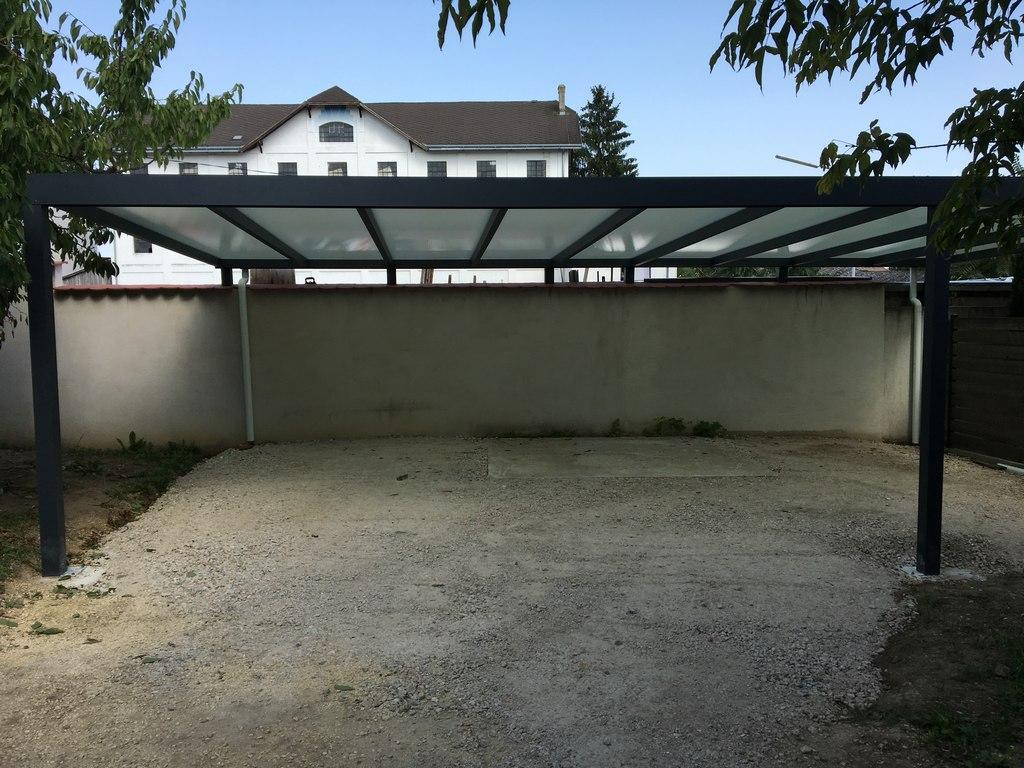Carport, Pultdach, anthrazit