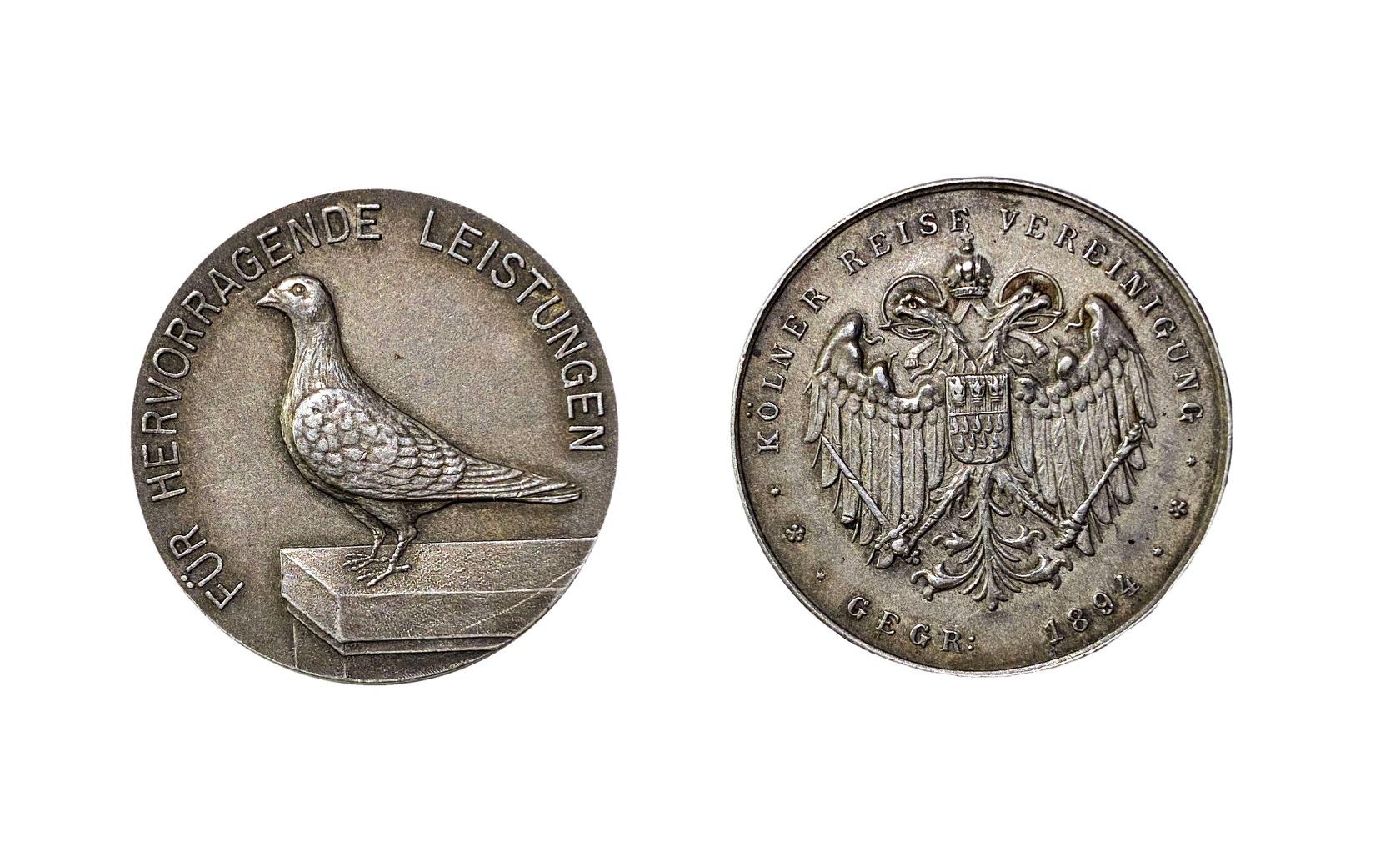 Medaille der Kölner Reisevereinigung von 1894 für hervorragende Leistungen