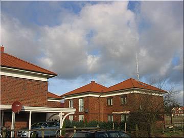 Neubaugebiet in Hanstedt mit Harzer Pfannen