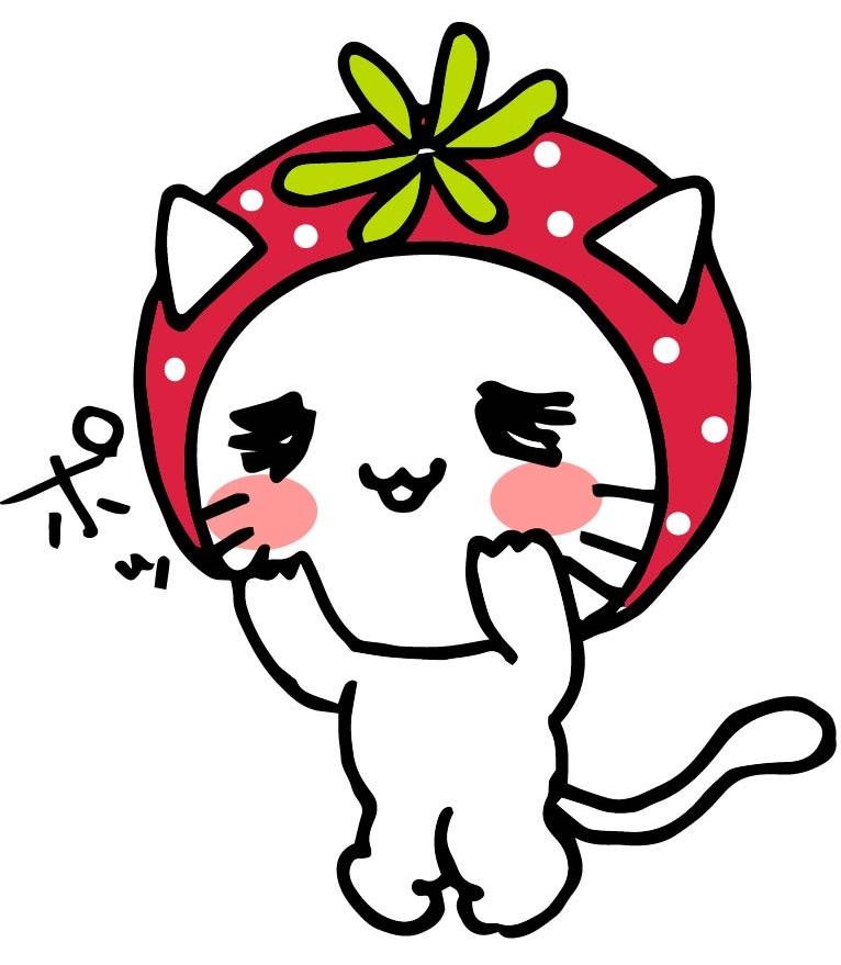 のんほいイチゴにゃん(公式マスコットキャラクター)