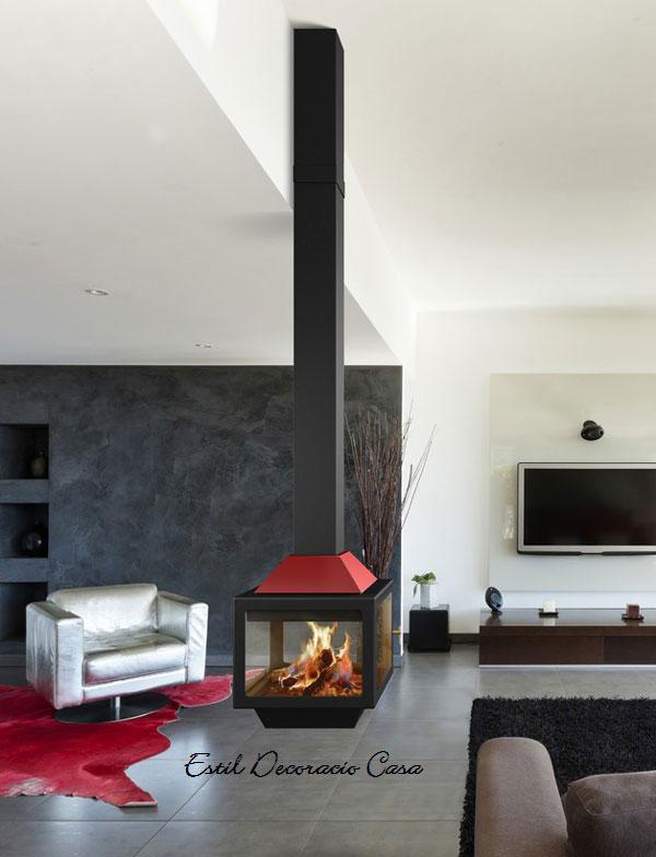 Produits : cheminées suspendues design, cheminées métalliques ...