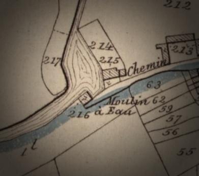 Bibliothèque Royale de Belgique, Plan parcellaire de la commune de Spiennes avec mutations, réalisé par Philippe-Christian POPP, Cartesius (extrait)