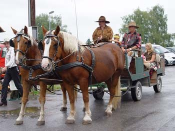 Kutsche fahren beim Indianerfest