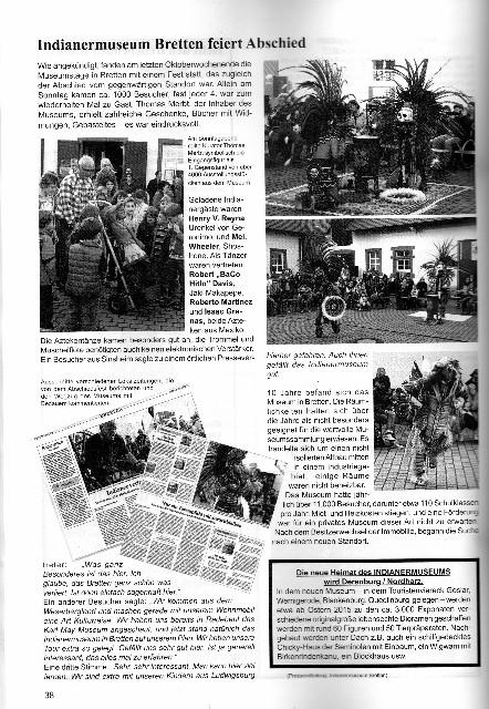 Bericht über Abschiedsfest des Indianermuseums in Bretten im Verlag für Amerikanistik