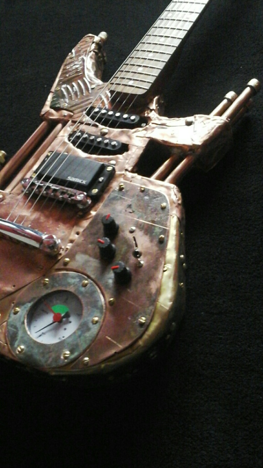 Mika Custom Steampunk Guitars.