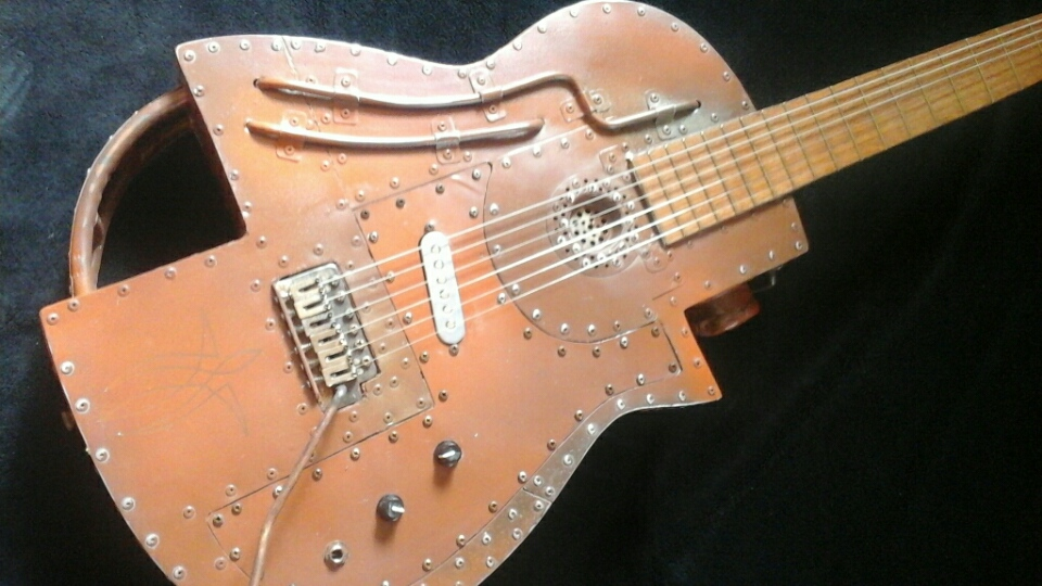 Mika Custom Steampunk Guitar.