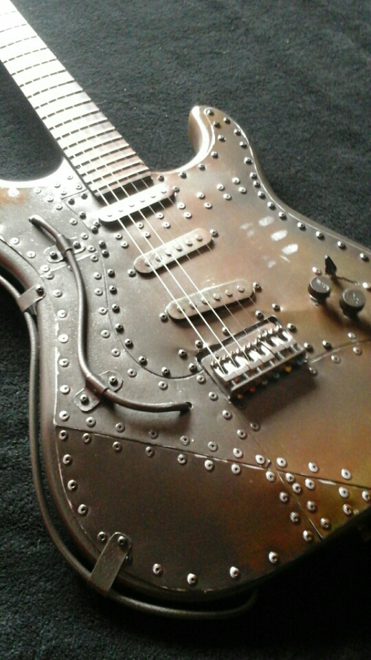 Mika Custom Steampunk Guitar