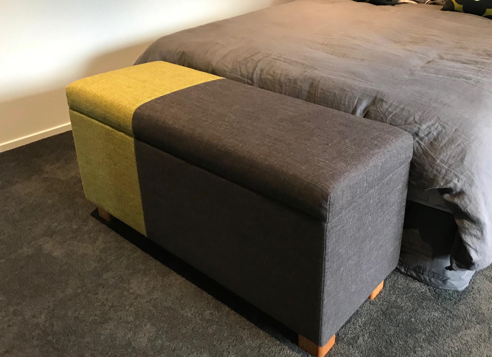 Blanket box in Warwick fabric