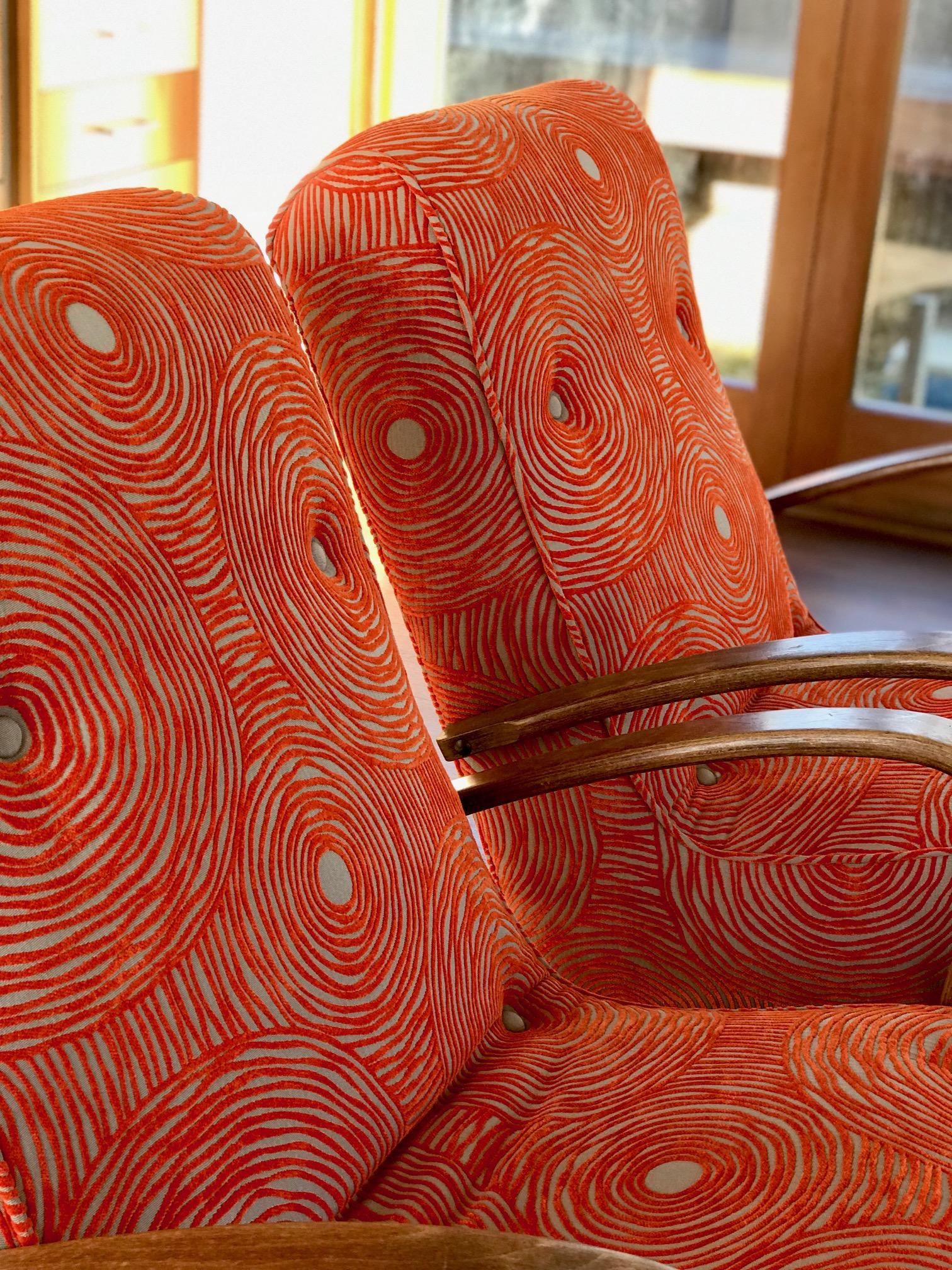 Retro Chairs - Orange