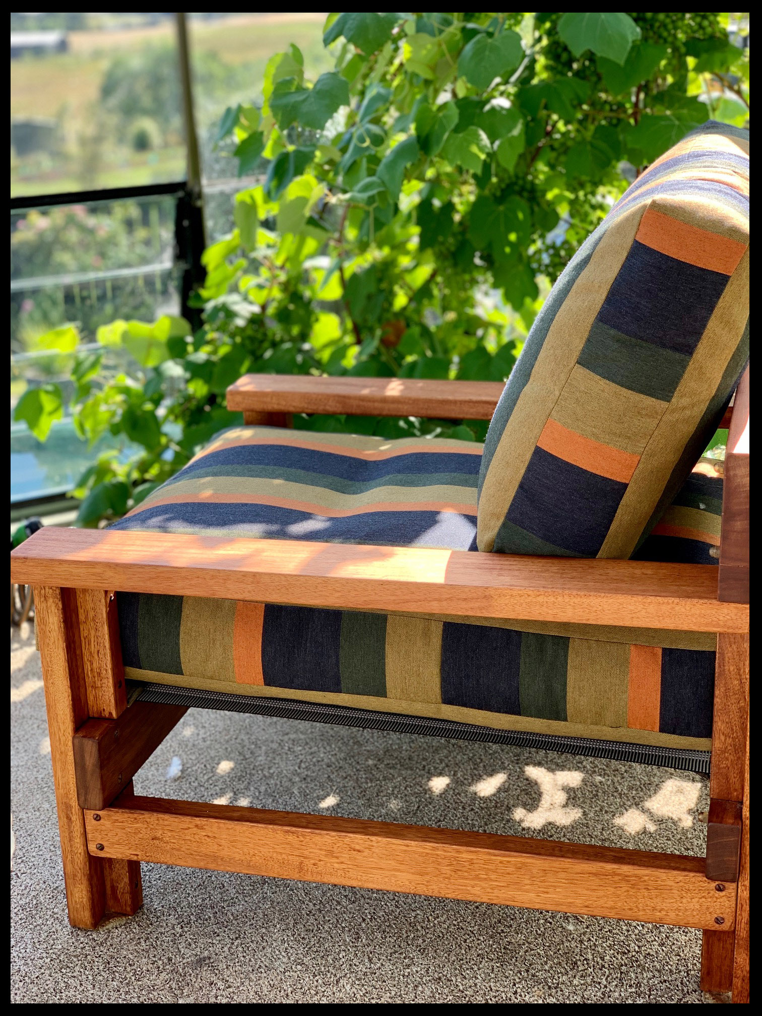 Re-vamped 1960's chairs with Sunbrella outdoor furniture fabric