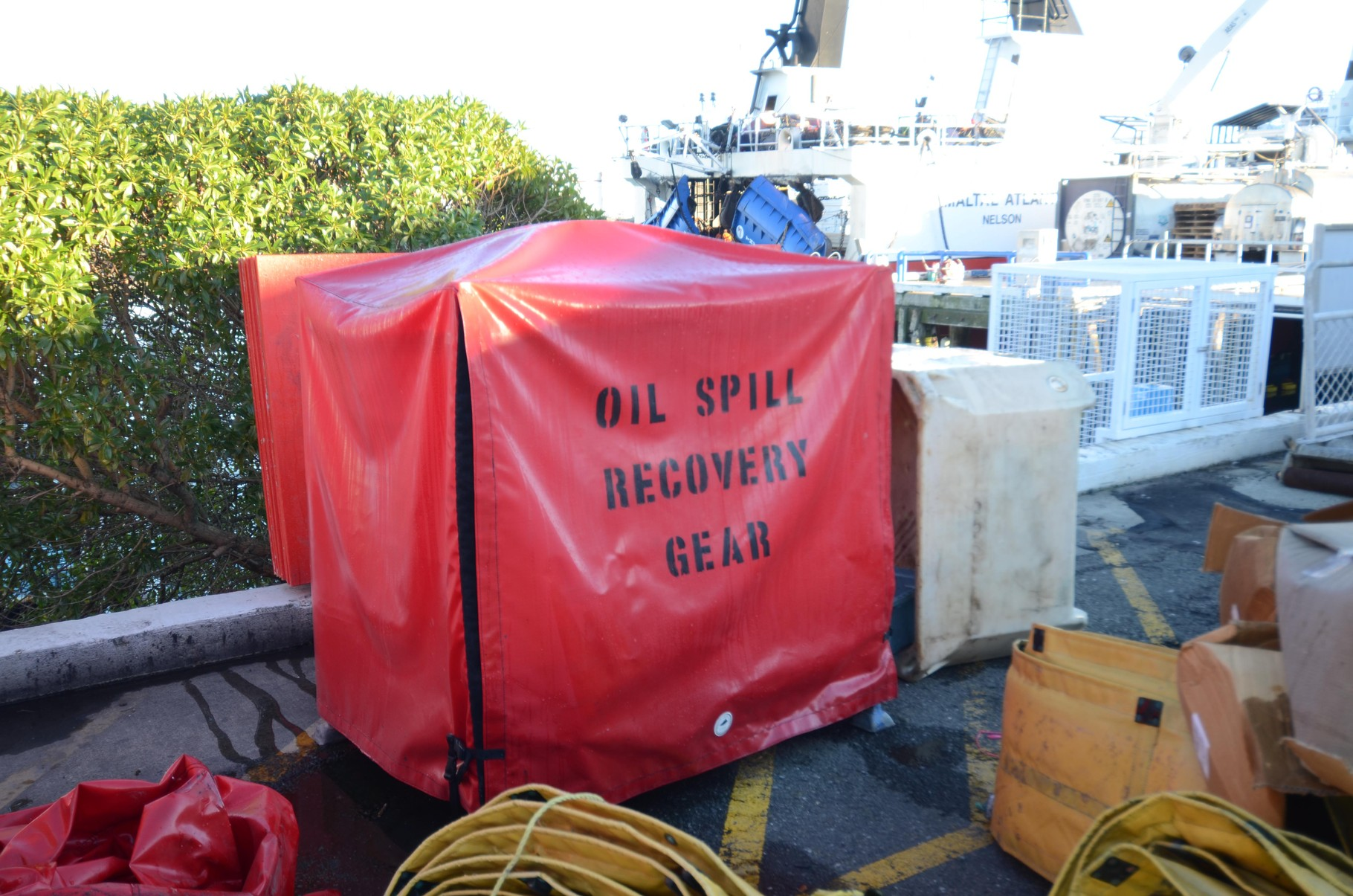 Oil Spill Recovery Gear Cover
