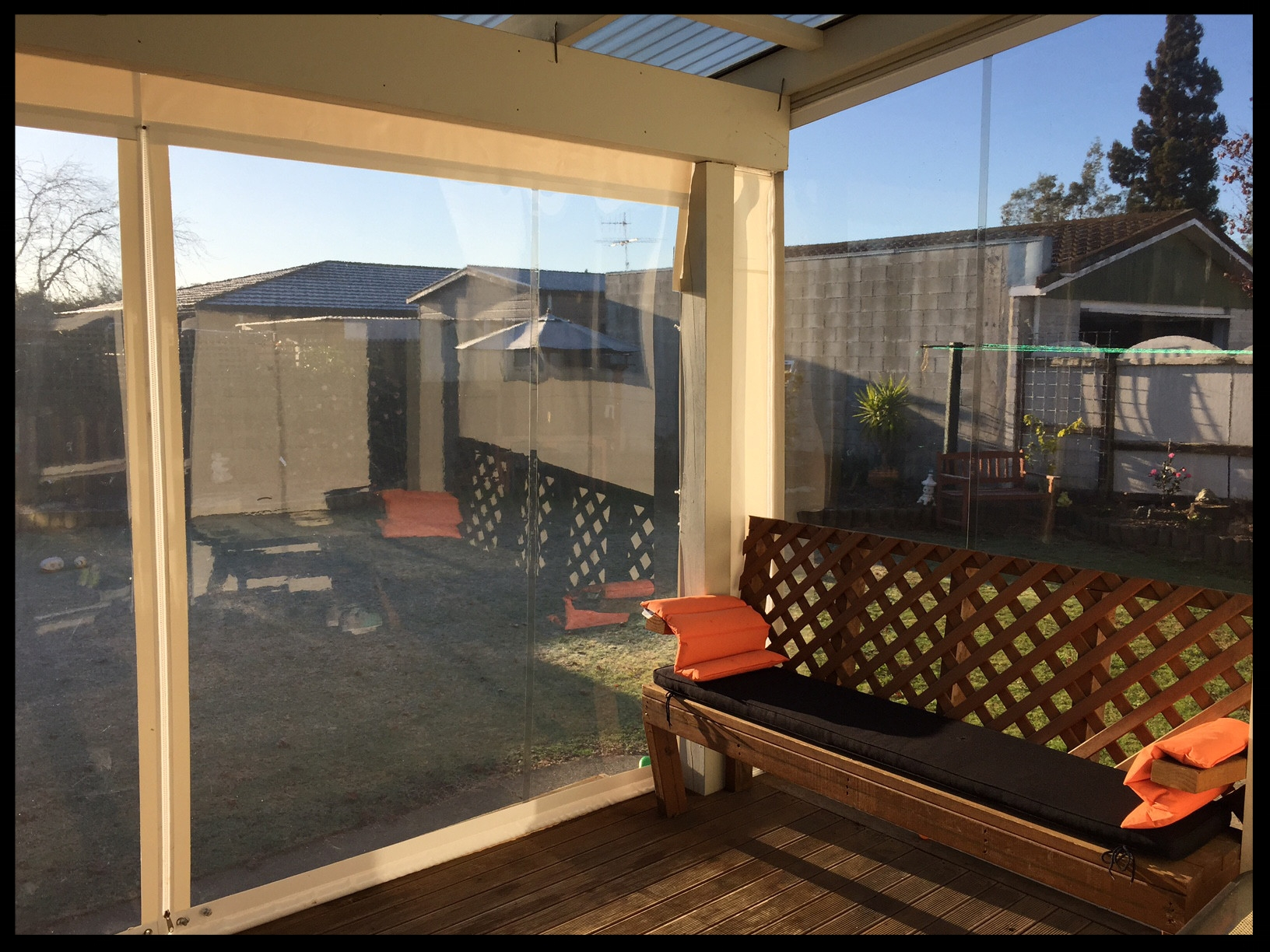 Clear Patio Screens, Brightwater, Nelson, New Zealand