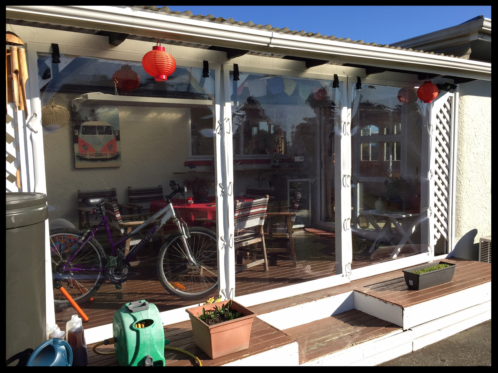 Clear Patio Blinds, Stoke, Nelson, New Zealand