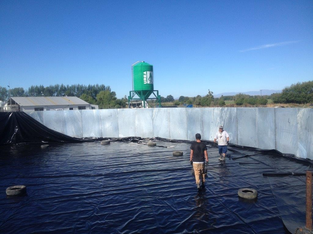 Effluent Pond Liner, South Canterbury, New Zealand