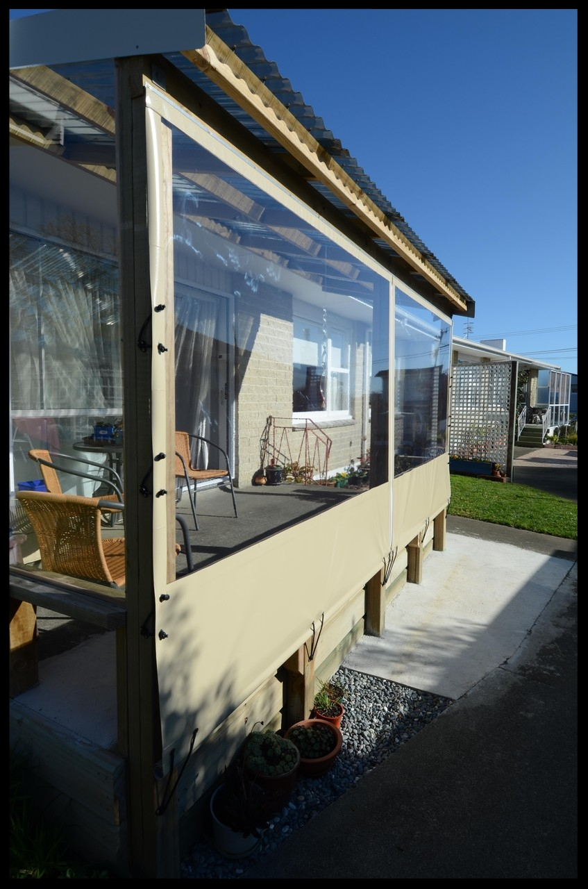 Clear Patio Blinds, Nelson, New Zealand