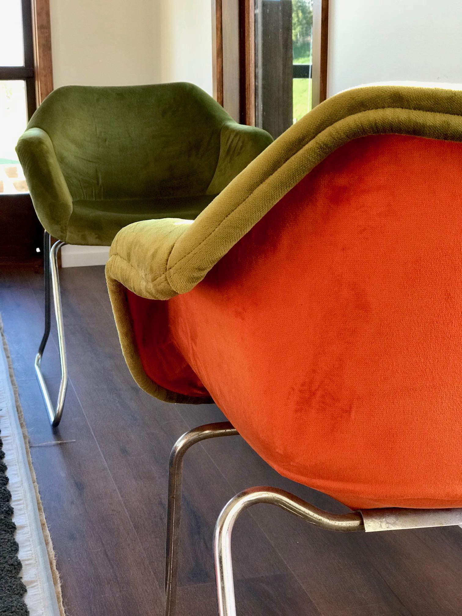 Retro Chairs in Velvet