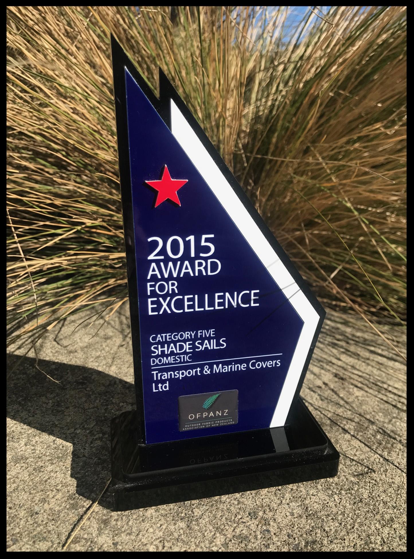 2015 OFPANZ Award for Domestic Shade Sails