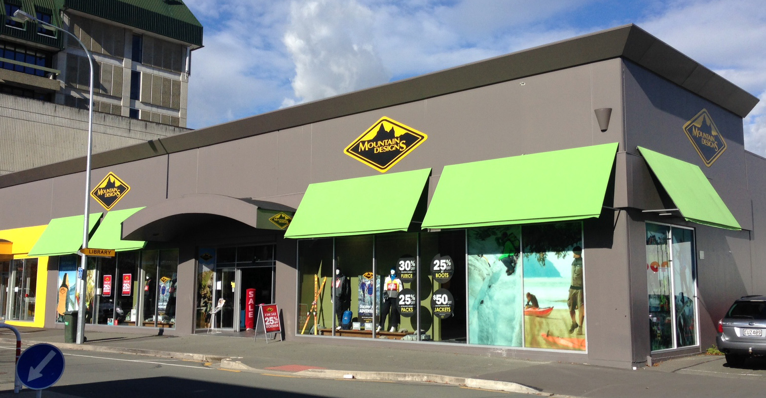 Mountain Designs Awnings, Nelson CBD