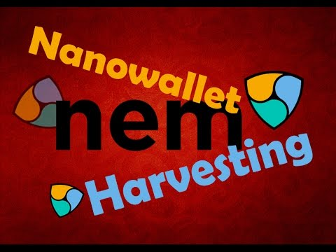 nem Nanowallet Harvesting と書かれた画像
