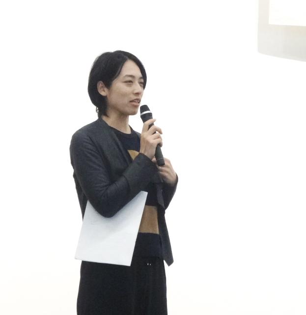 報告集会で弁護団意見陳述の内容を解説する緒方枝里弁護士