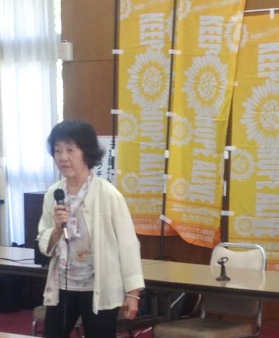 入江鈴子さん(全国B型肝炎訴訟名古屋原告団幹事)