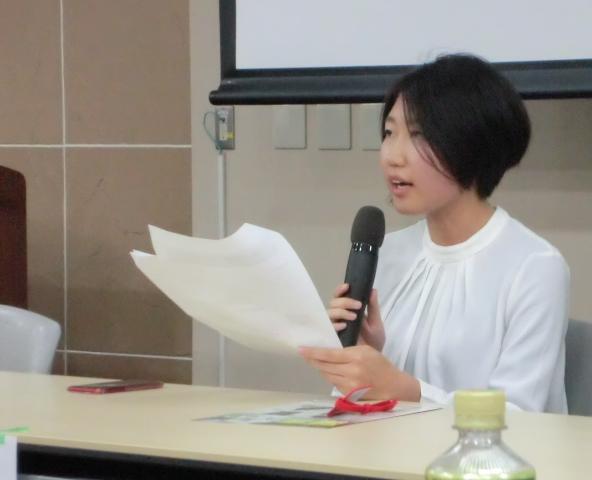 落合晴香さん(HPVワクチン薬害訴訟名古屋原告団)