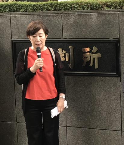 薬害肝炎全国原告団の浅倉美津子代表