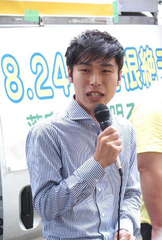 山添拓参議院議員(共産党)