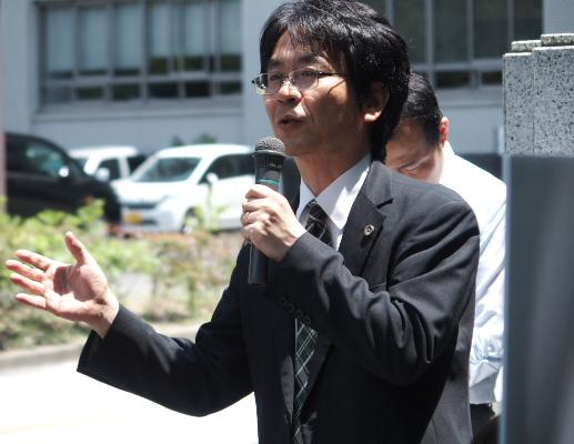 小林洋二弁護士(九州弁護団代表)