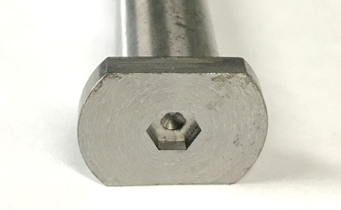 Enlarged view of the hex socket