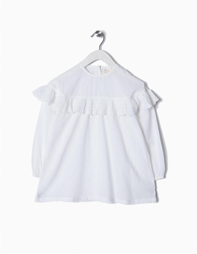10b6c0b67 2018-Blusa blanca plumeti volantes niña zippy - Moda y ropa infantil ...