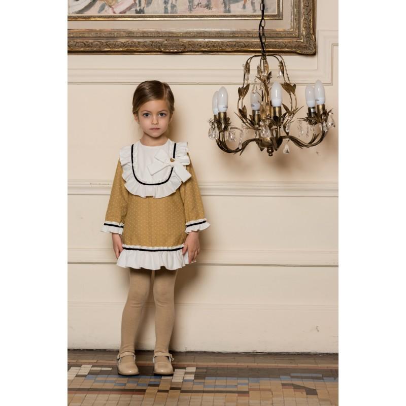 0d2c547d9 2019-Vestido niña Ocre Dolce Petit - Moda y ropa infantil online ...