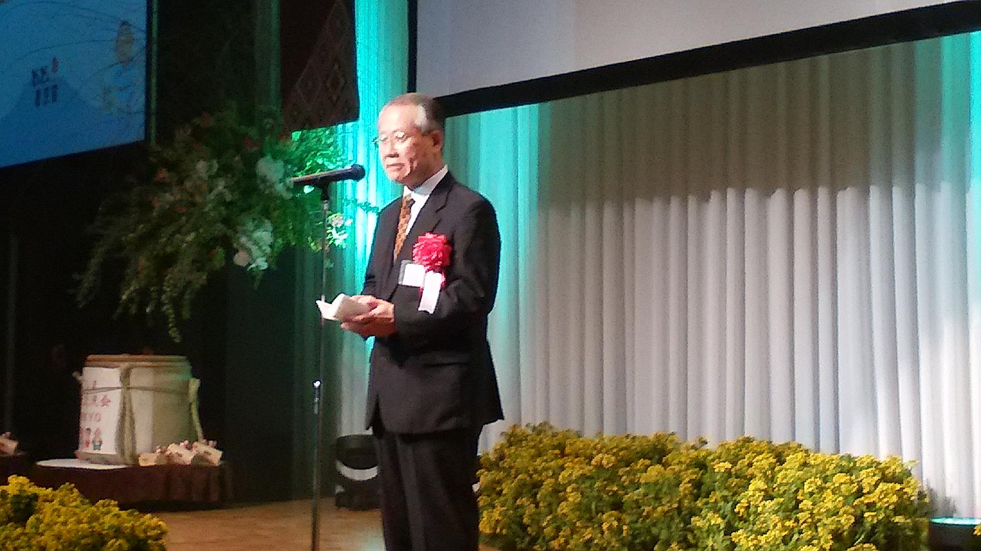 上田良一NHK会長は鹿児島市のラサール中高出身とかで、西郷どんの製作に全面協力の三反園知事に謝意を述べていた。
