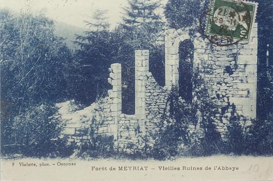 Meyriat: Ruines de l'abbaye