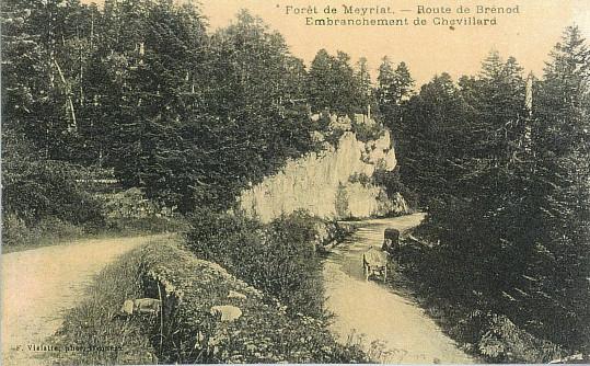 Meyriat: Croisement routes de Brénod et de Chevillard