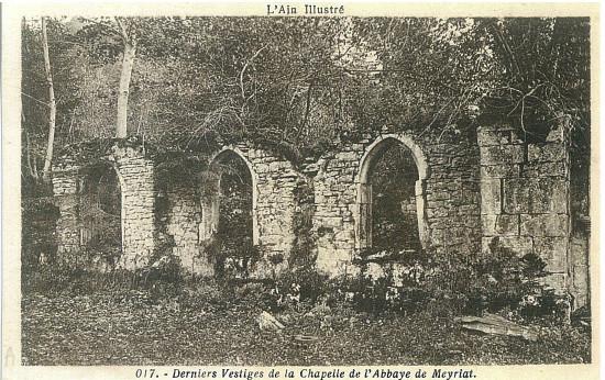 Meyriat: Vestiges de la chapelle
