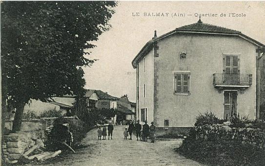 Le Balmay ancienne école partiellement démontée au niveau caserne des pompiers